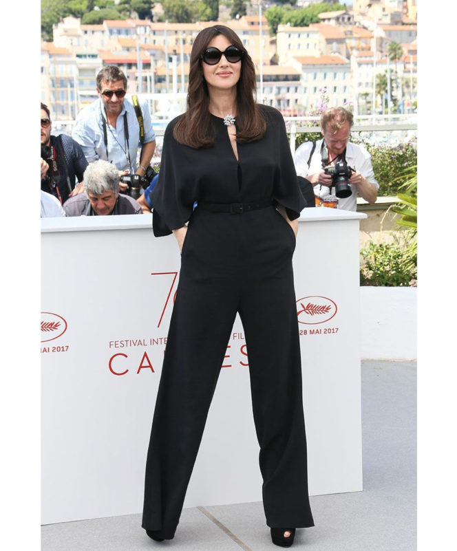 Mistress of Ceremonies Photocall - May 17 2017 Monica Bellucci teamed her Stella McCartney jumpsuit with sunglasses