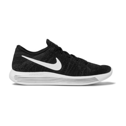 Nike running trainers in black and white
