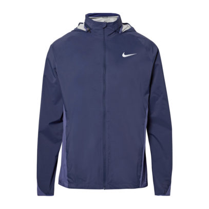 nike running jacket in blue