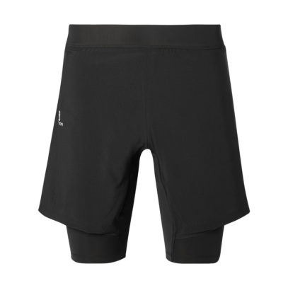 Salomon black fitness gym shorts