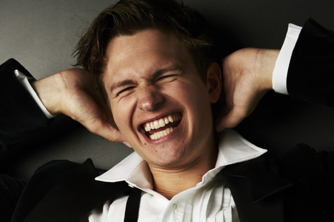 Go behind the scenes of our Ansel Elgort cover shoot