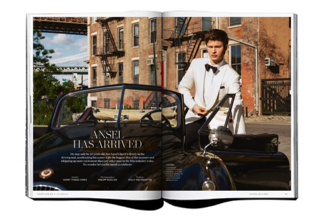 Issue Preview: Baby Driver's Ansel Elgort covers Gentleman's Journal