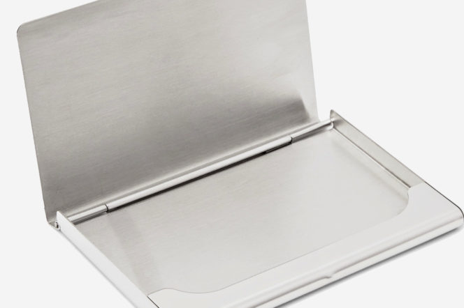 The Pick: The Cardholder crafted from stainless steel