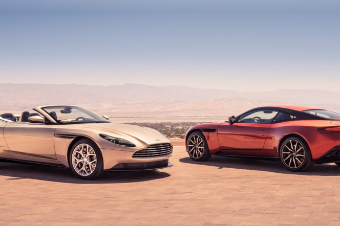 The Aston Martin DB11 Volante is a convertible with class