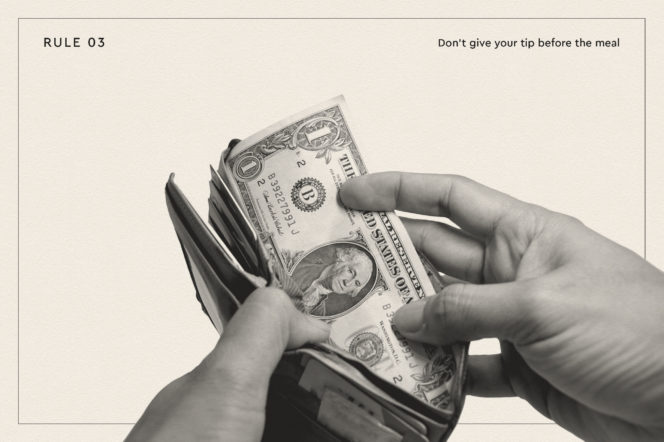 Once and for all, here are the gentleman's rules of tipping