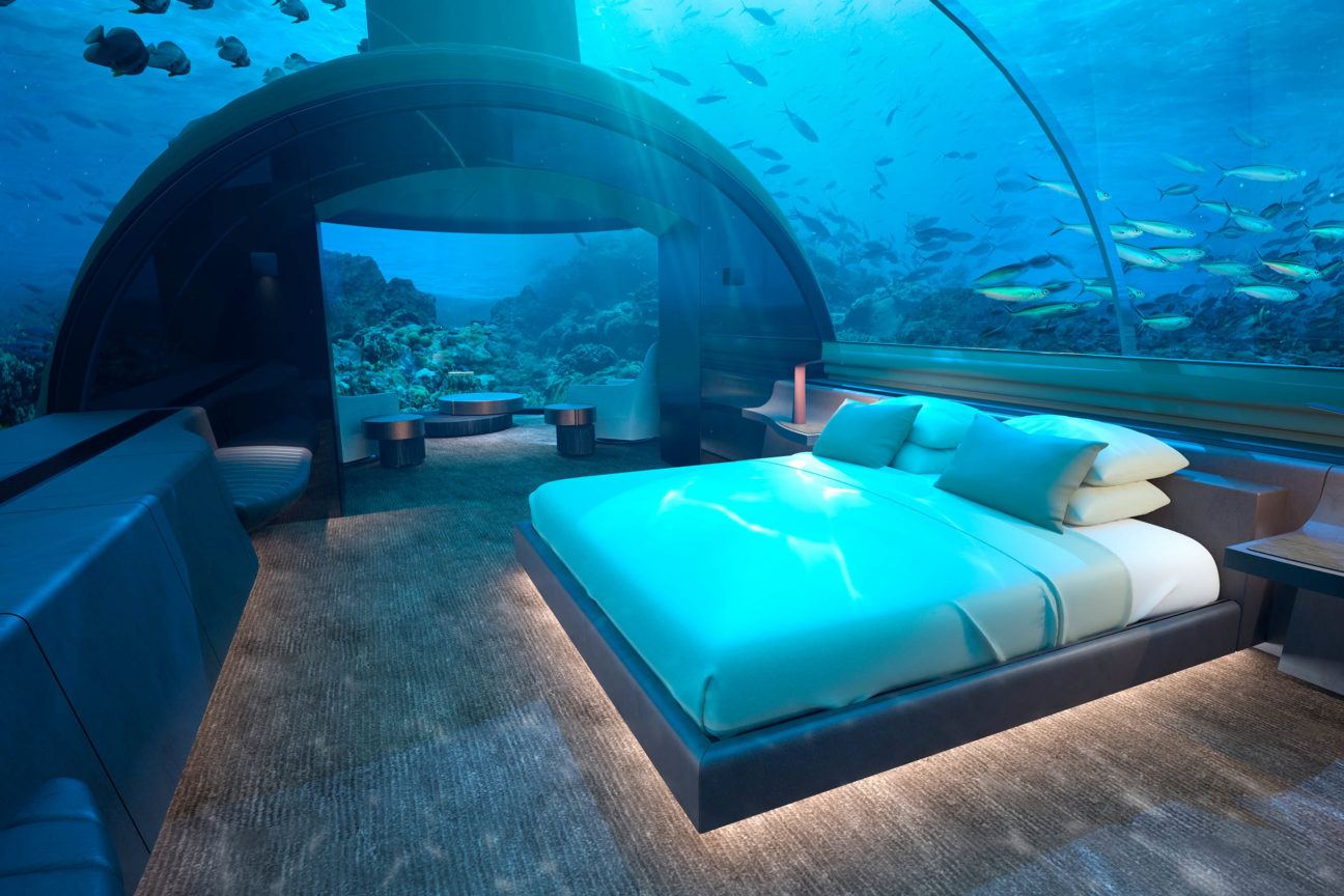 This $50,000 per night underwater villa takes a sea view to the extreme