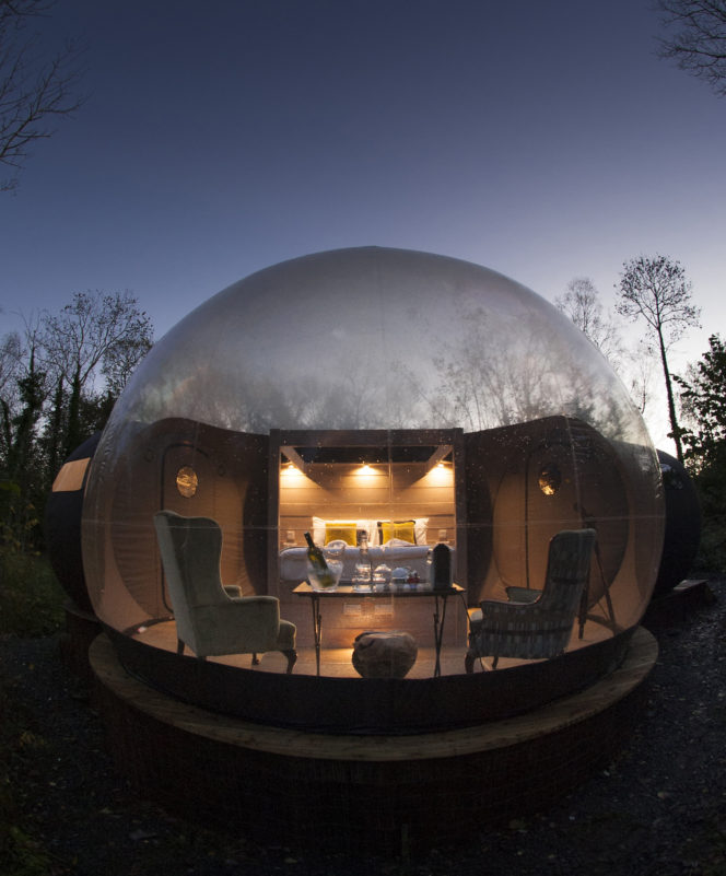 These bubble domes let you experience the Irish countryside in comfort