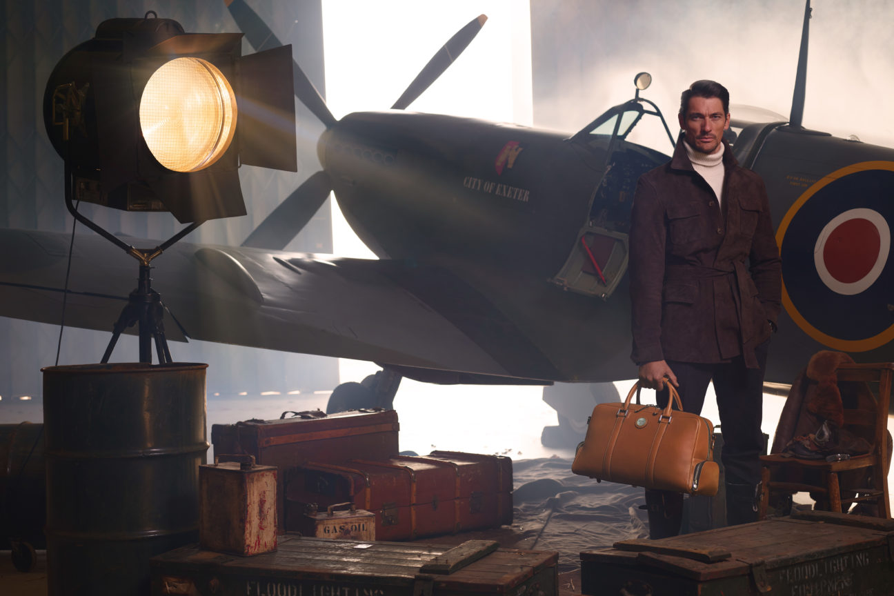 David Gandy launches new Spitfire inspired collection with Aspinal of London