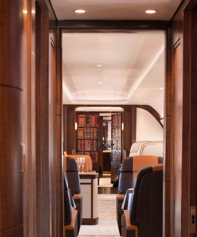 This private jet feels like you're flying in your favourite Gentleman's Club