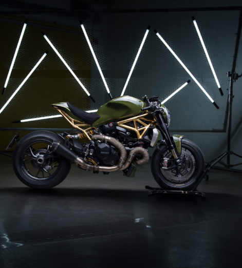 Hit the road on this Ducati Monster, kitted out in 24k gold