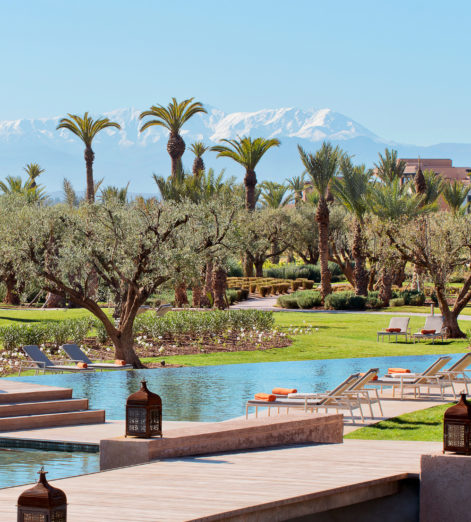 Inside the traditional luxury retreat nestled below the Atlas Mountains