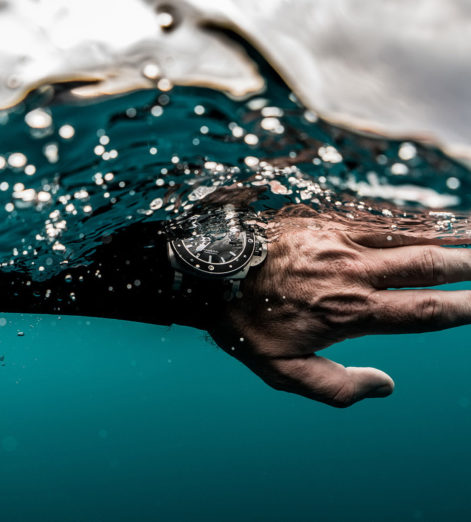 Freediver Guillaume Néry takes Panerai's Luminor Submersible range to new depths