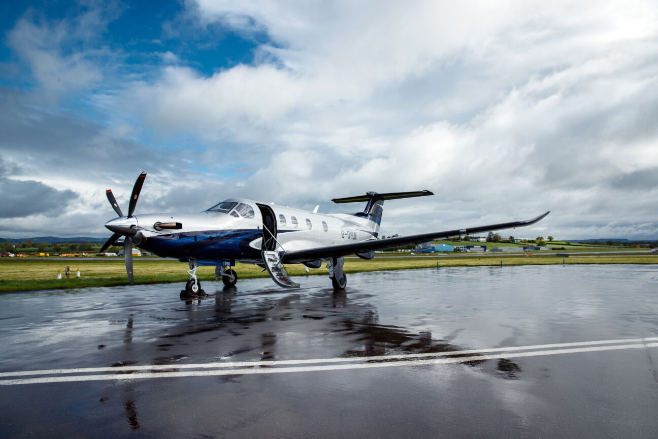 Introducing your new business and leisure aircraft, the Pilatus PC-12