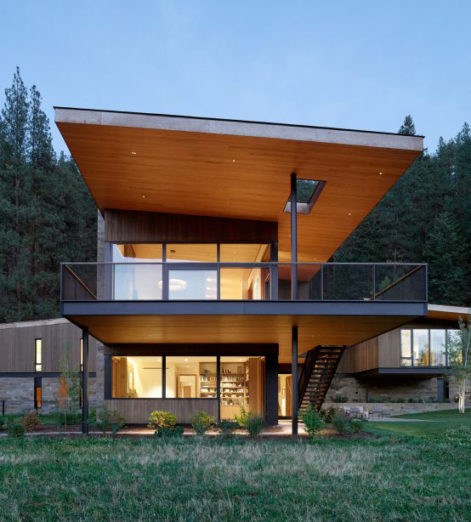 In the forests of Montana, this unique home is where the art is