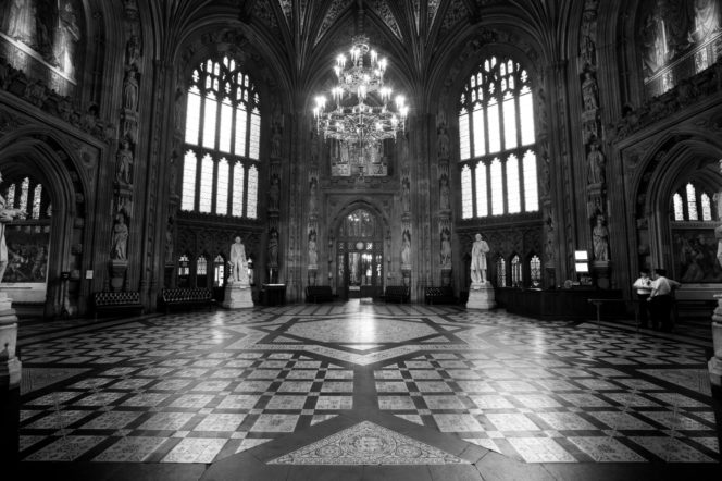 House of Lords and House of Commons lobby