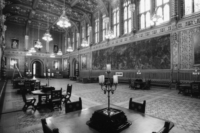 The Royal Gallery at the Palace of Westminster