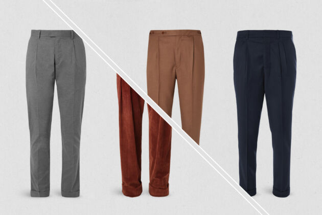 best pleated trousers
