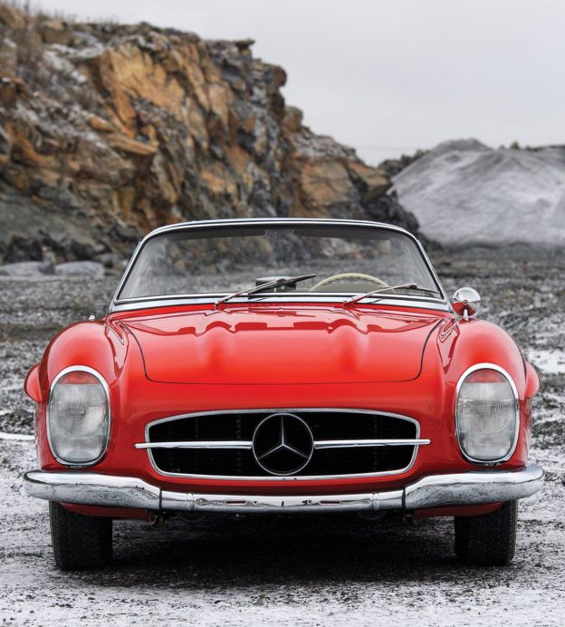 This 1957 Mercedes-Benz convertible raises the roof