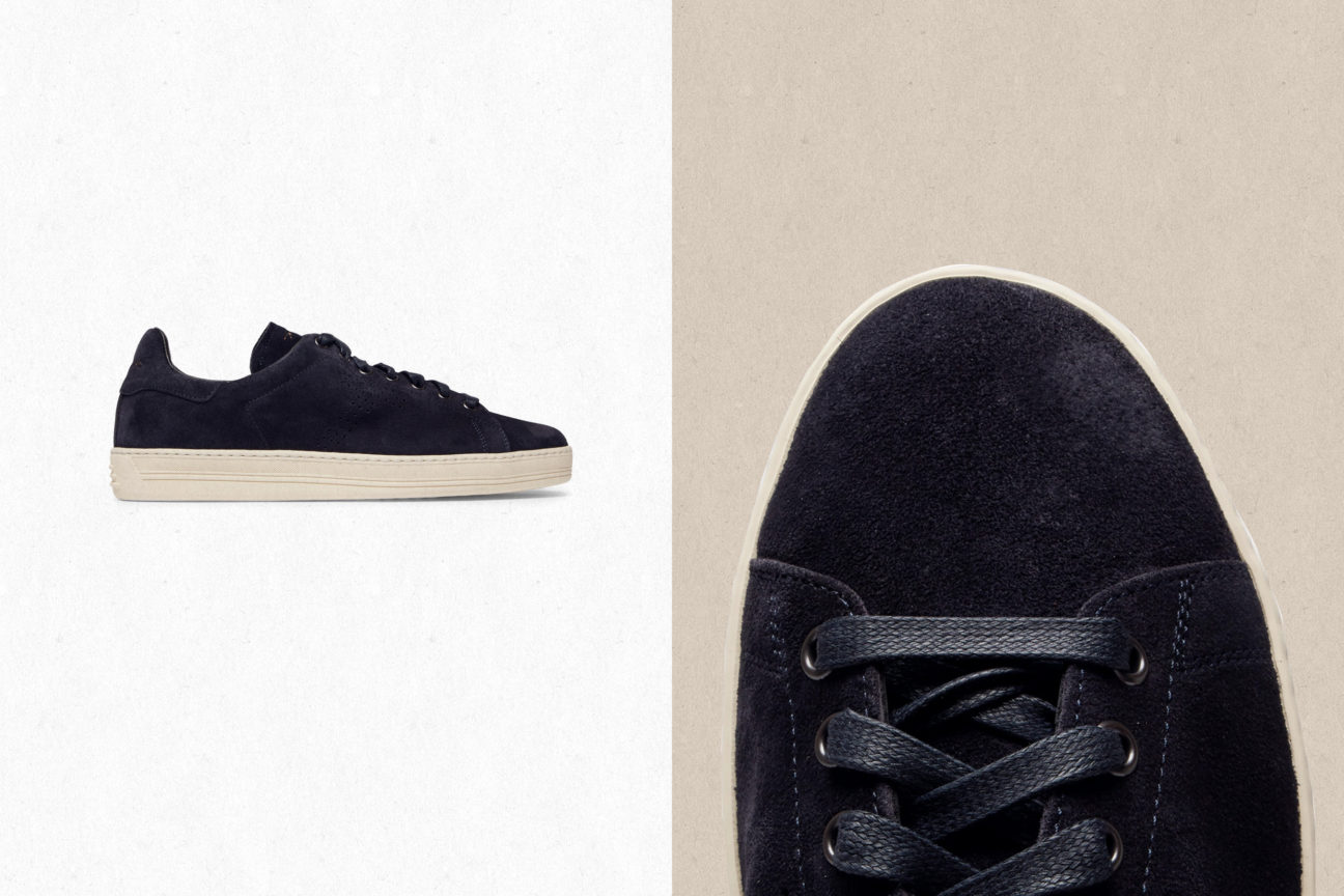 Warwick Perforated Suede Sneakers by Tom Ford