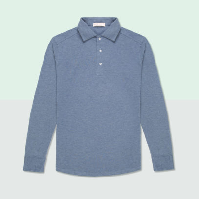 The long-sleeved polo shirt will up your layering game