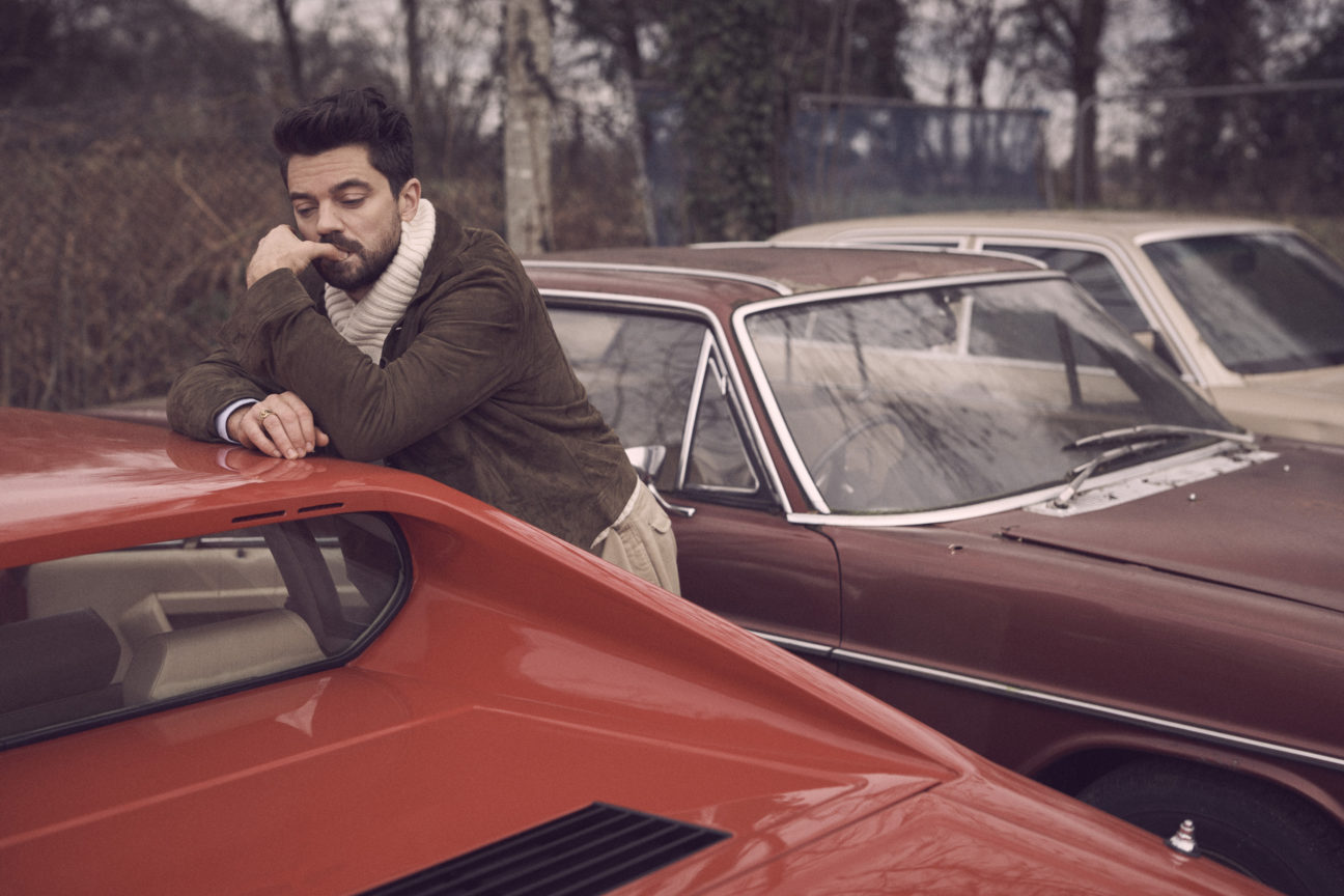 Dominic Cooper is on the run in our latest style shoot