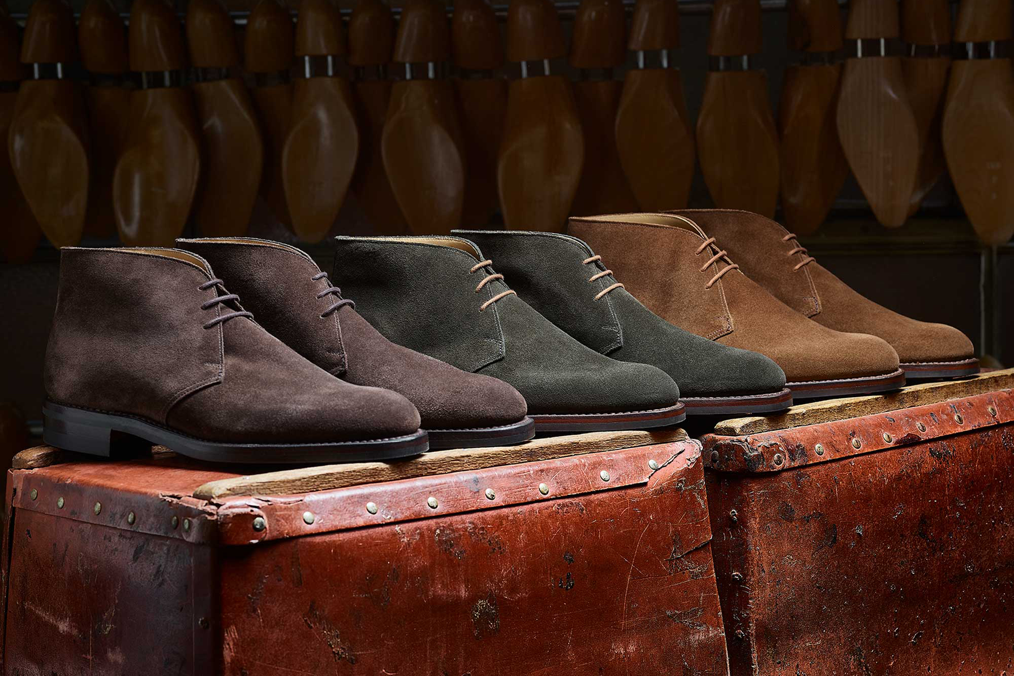 Lace up a pair of desert boots - the