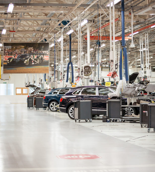 For Bentley's 100th Anniversary, take a spin along their people-powered assembly line
