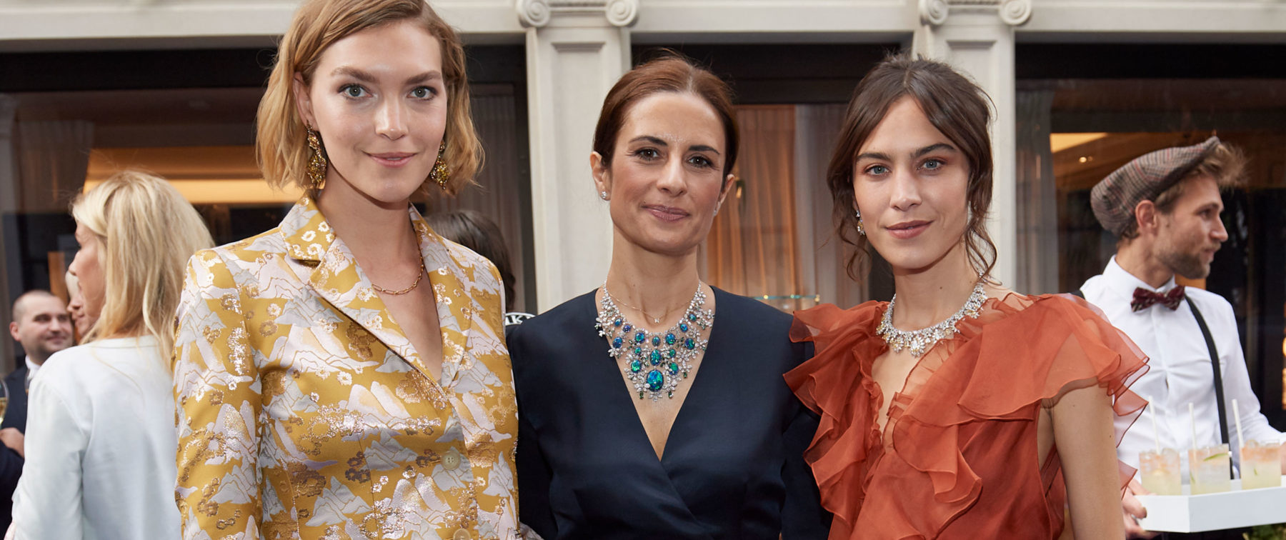 Arizona Musa, Alexa Chung and Livia Firth