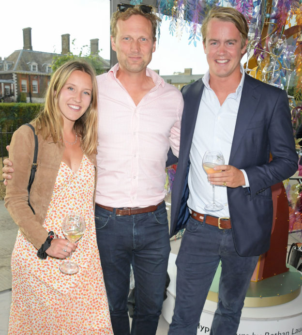 Ella-Mountbatten-Charlie-Law-and-George-Blandford-at-The-Gentlemans-Journal-Summer-Party-at-Masterpiece-London