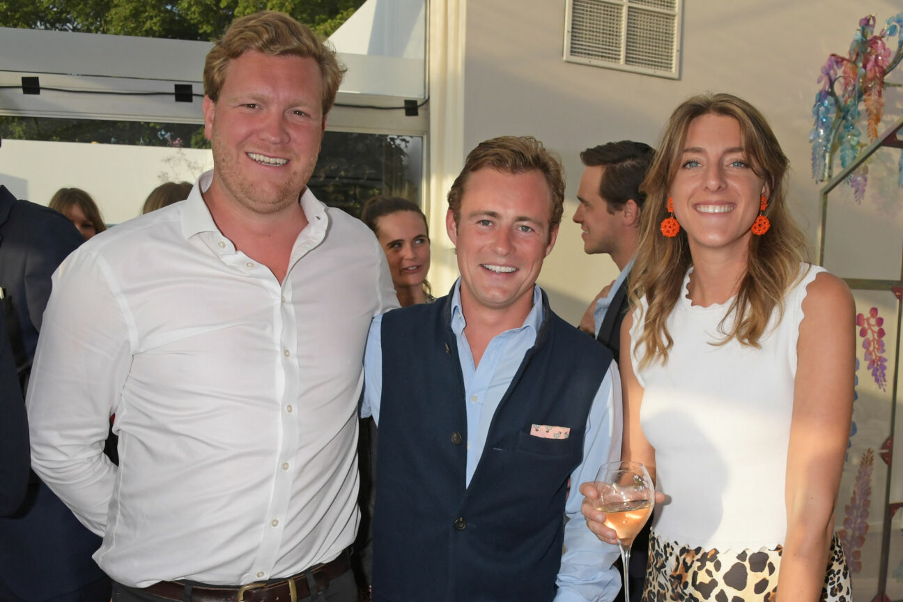 Hemmo-Bloemers-Will-Tobin-and-Lady-Daisy-Fane-at-The-Gentlemans-Journal-summer-Party-at-Masterpiece-London