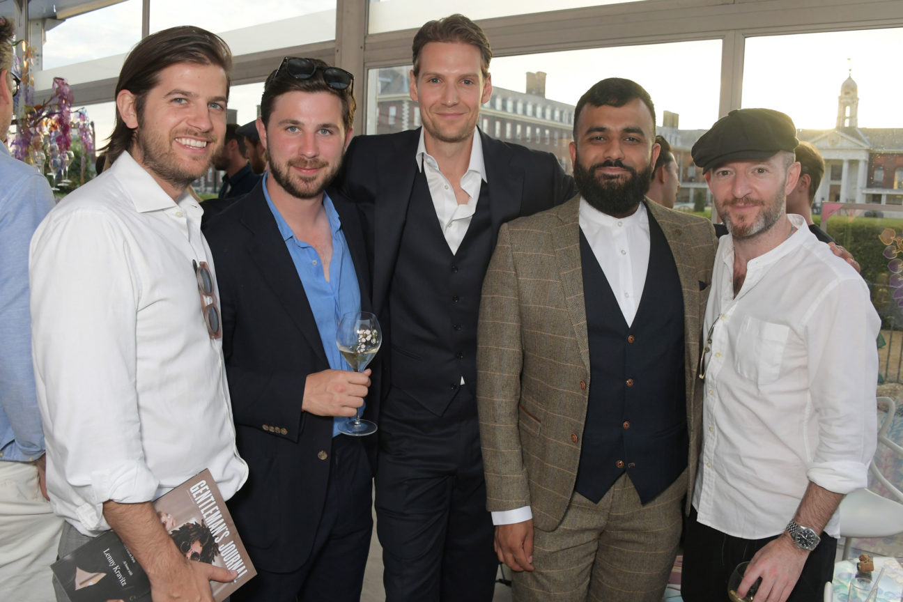 Jack-Freud-Joseph-Bullmore-Alex-Johnson-Hussain-Manawer-and-Anthony-Byrne-at-The-Gentlemans-Journal-Summer-Party-at-Masterpiece-London