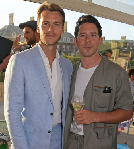 Miles-Bugby-and-Adam-Fussell-at-The-Gentlemans-Journal-Summer-Party-at-Masterpiece-London