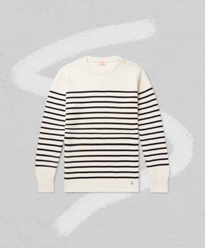 Amor Lux Molene Striped Wool Sweater