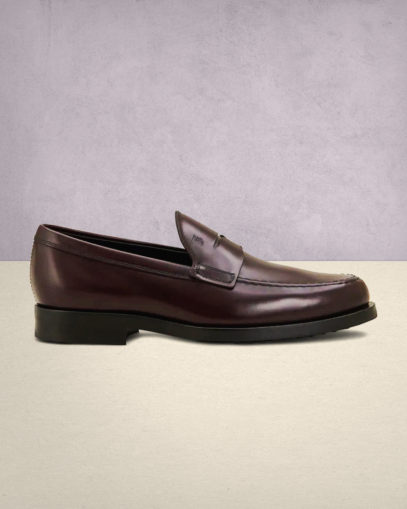 Tod's Burgundy Loafers