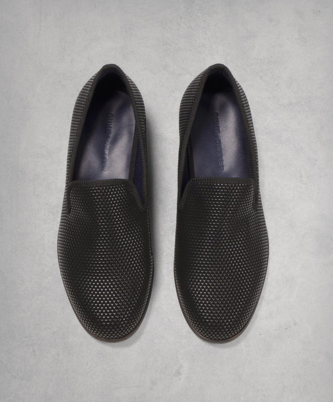 Duke + Dexter Pyramid Black Loafer