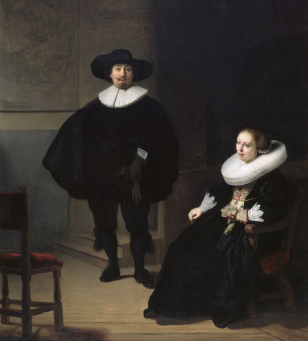 A-lady-and-gentleman-in-black-by-Rembrandt