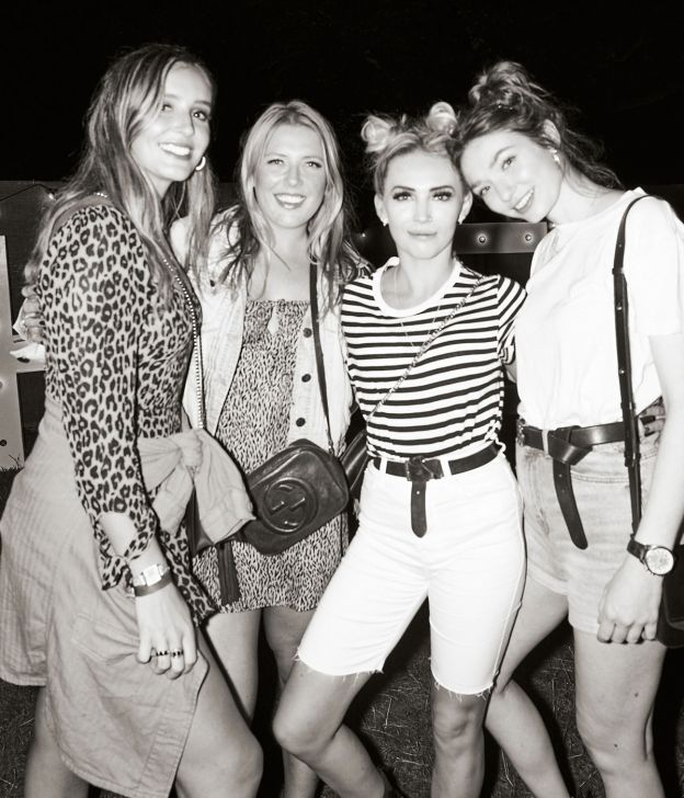 Laura Robson, Harriette Wither, Rebecca Hills and Eleanor Tomlinson