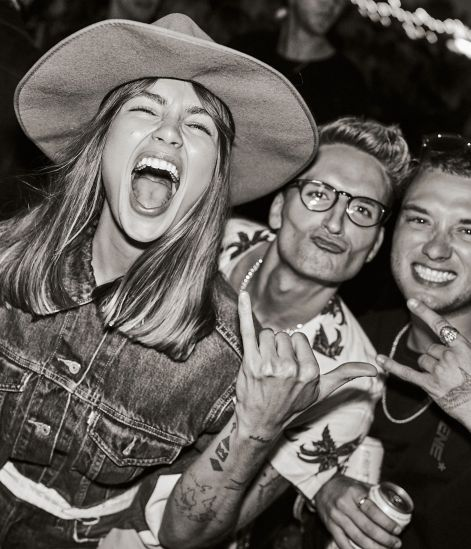 Emma Louise Connolly, Oliver Proudlock and Jasper Ford