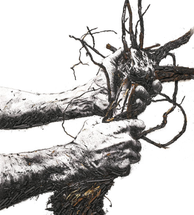 'Flow Hands' from Vik Muniz's Ruinart Carte Blanche Commission 'Shared Roots'