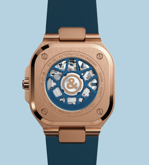 Bell & Ross BR05 Skeleton Gold Blue