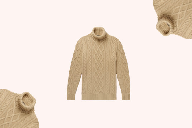 Loro Piana Cable-Knit Rollneck