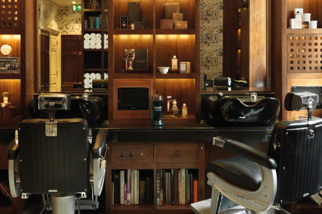 The Barber at Alfred Dunhill