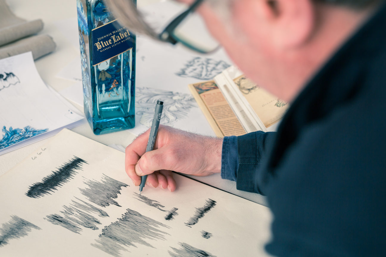 Celebrate the rare spirit of Scotland with Johnnie Walker and Timorous Beasties