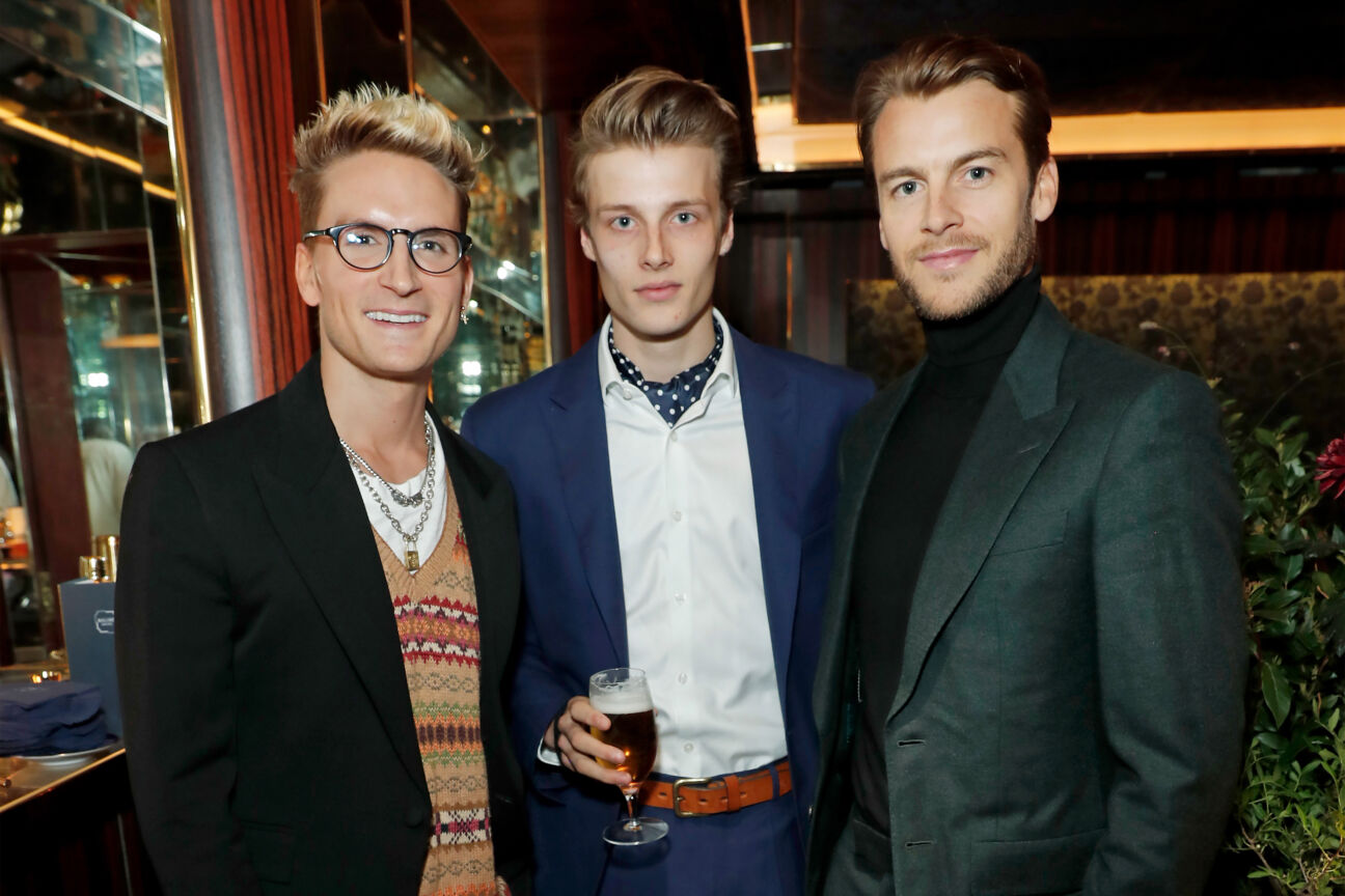 Oliver Proudlock, Hugh Laughton-Scott and Miles Bugby