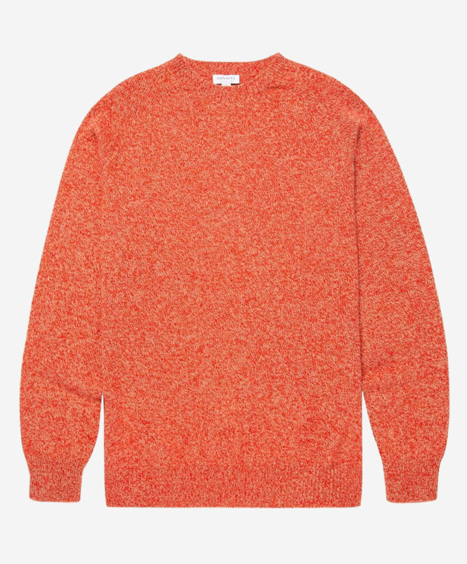Sunspel Men's Lambswool Crew Neck Jumper