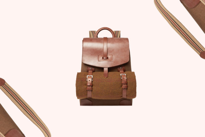 James Purdey & Sons Leather & Canvas Backpack