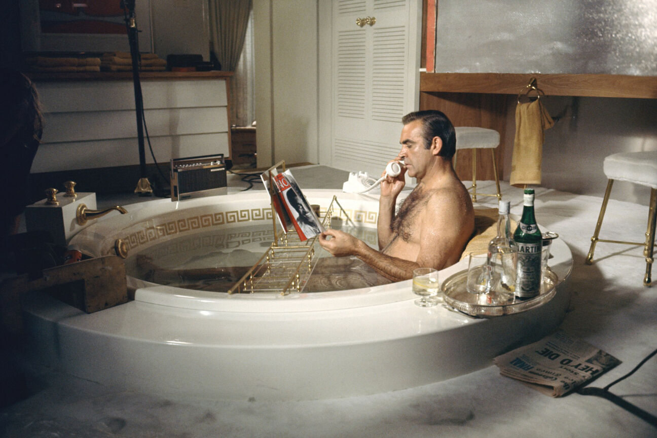 james bond grooming sean connery bath diamonds are forever
