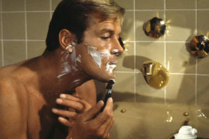 james bond grooming roger moore 007 bath shaving live let die