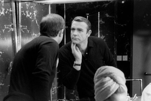 james bond grooming sean connery bathroom shaving