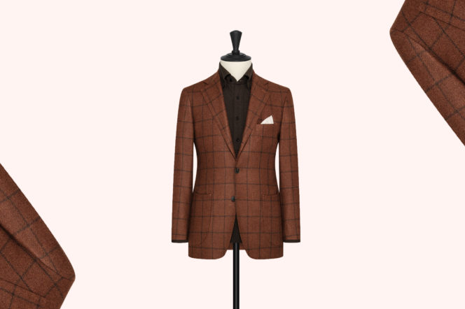 Clements & Church Orange and Brown Check Jacket